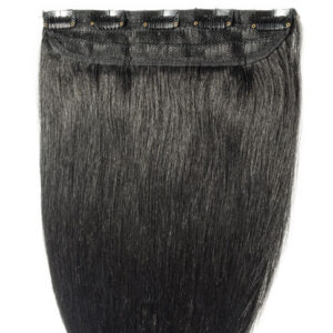 Clip in hair straight black