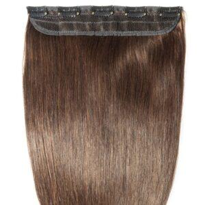 Clip in hair - dark brown