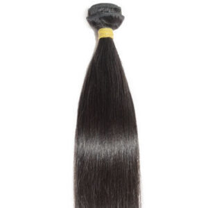 hair weft natural black straight